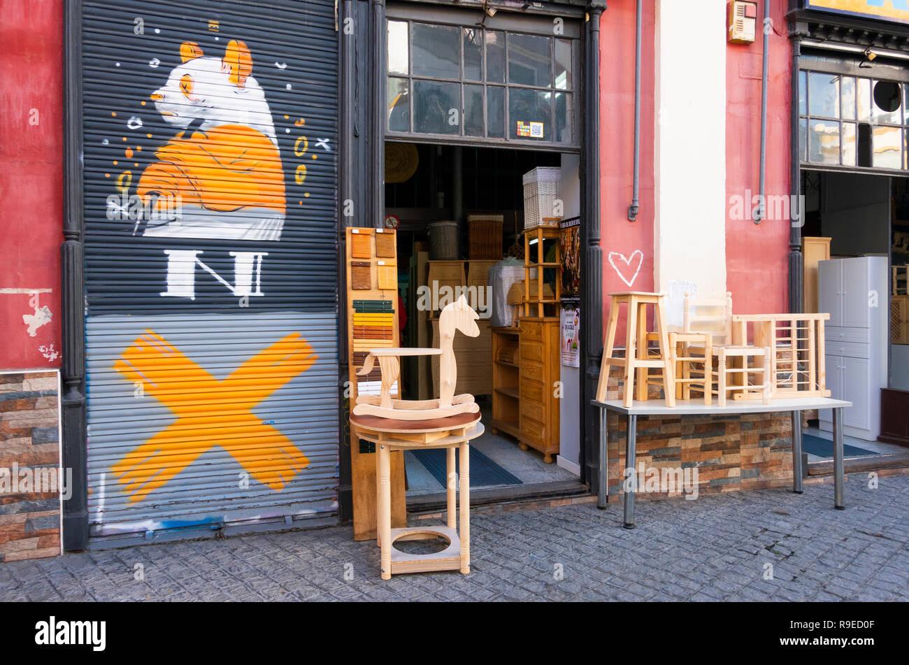 Arredi personalizzati negozio a Siviglia, Spagna Immagini Stock