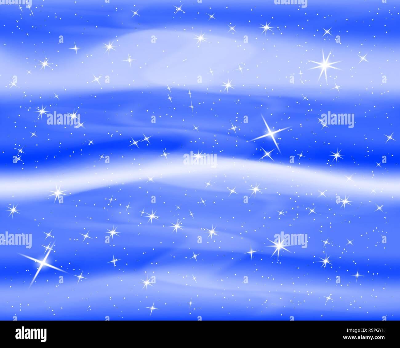 Cielo Notturno Con Le Stelle E Le Nuvole Sparkle Stellato Sfondo