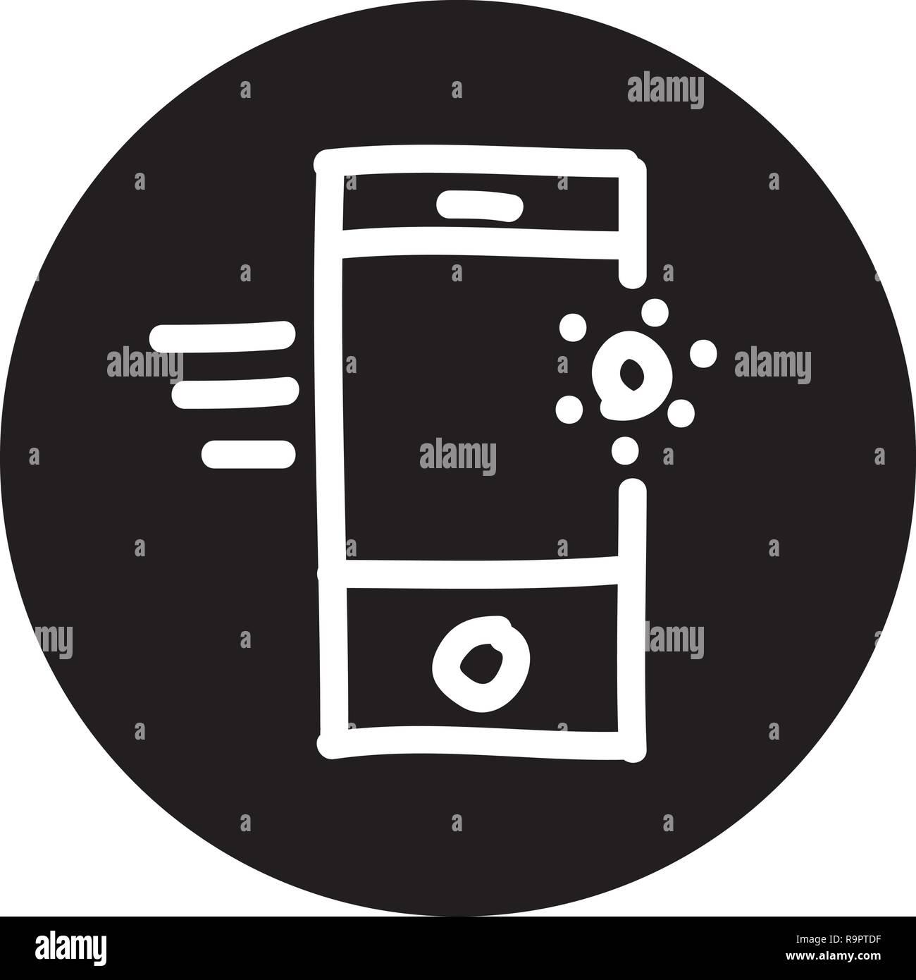 Ricerca Per Immagini Mobile ottimizzazione per i motori di ricerca icona con disegnato a