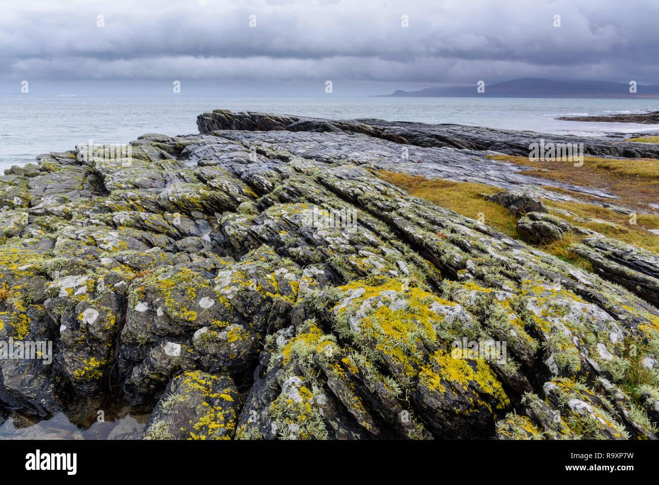 Punto Ardnave, Islay, guardando verso il Giura, Ebridi Interne, Argyll & Bute, Scozia Foto Stock
