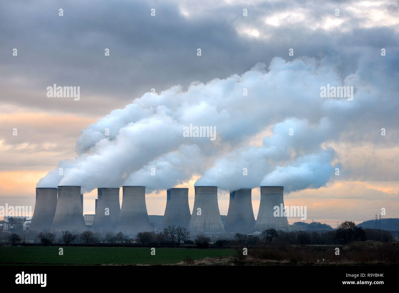 Ratcliffe sul carbone Soar Power Station Nottingham REGNO UNITO Immagini Stock