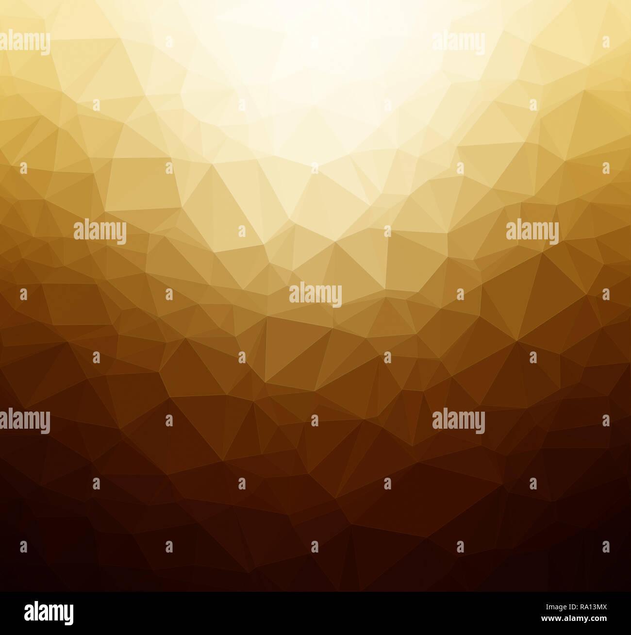 Alta risoluzione oro, arancione e marrone poligono colorato mosaico sfondo vettoriale. Abstract 3D bassa triangolare poli stile gradiente dello sfondo. Immagini Stock