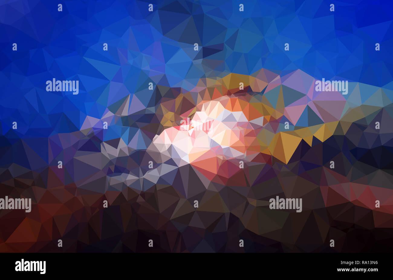 Alta risoluzione futuristico poligono colorato mosaico sfondo vettoriale. Abstract 3D bassa triangolare poli stile gradiente dello sfondo. Immagini Stock