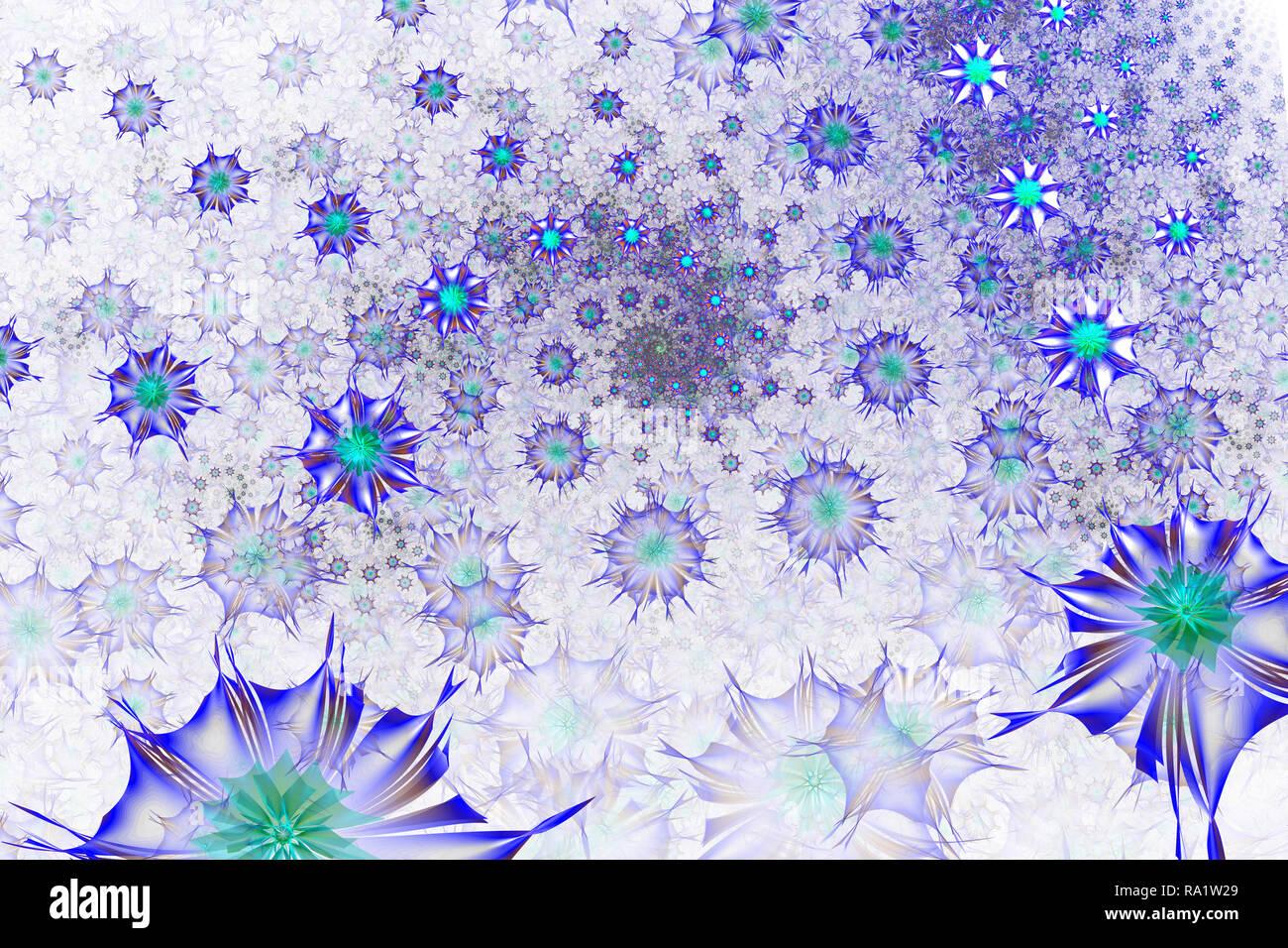 Colorate Daisy fractal design. Fiore astratto a spirale. Ddigital artwork per grafica creativa. Danza dei fiorai. Misterioso relaxa psichedelico Immagini Stock