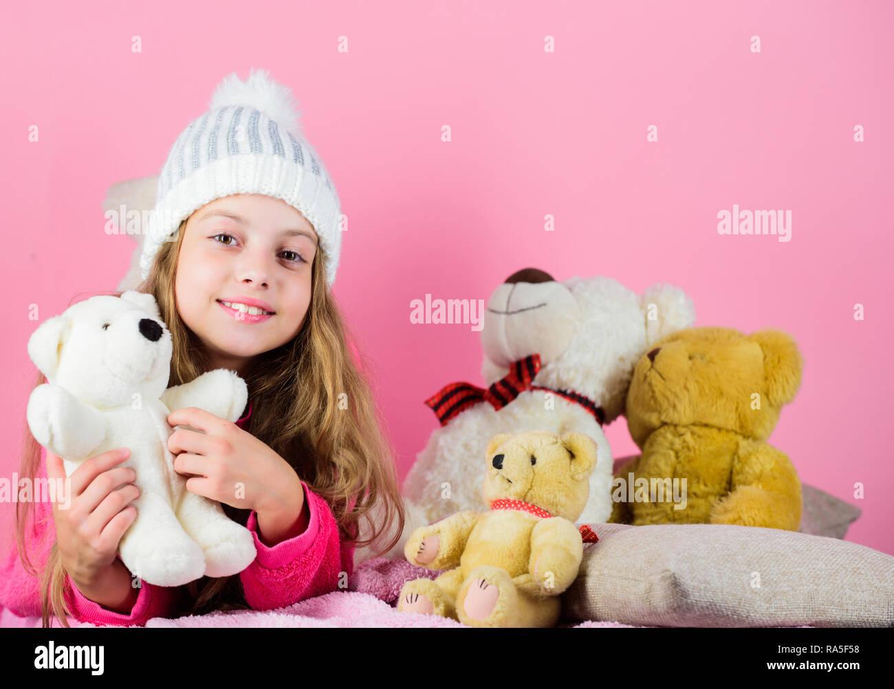 hot sale online 95467 0c4b1 Orsi collezione di giocattoli. Bambino piccolo ragazza ...
