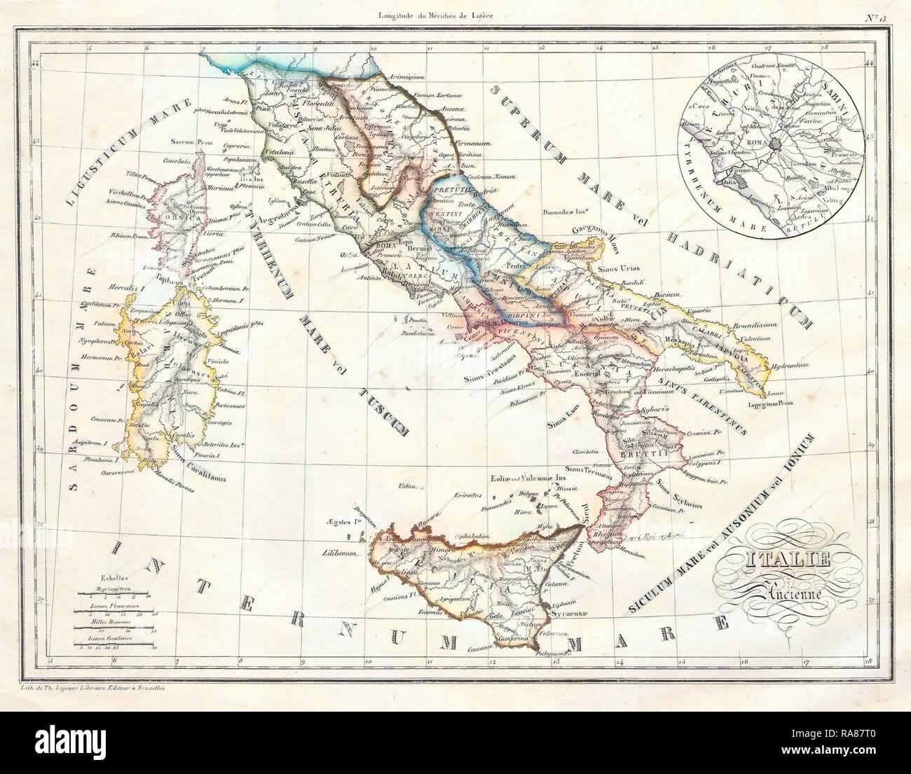 Cartina Italia Romana.Mappa Antica D Italia Immagini E Fotos Stock Alamy
