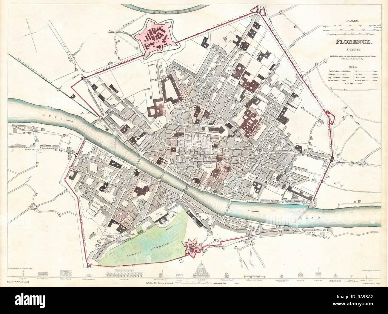 Firenze Cartina Centro Storico.Map Of Florence Immagini E Fotos Stock Alamy