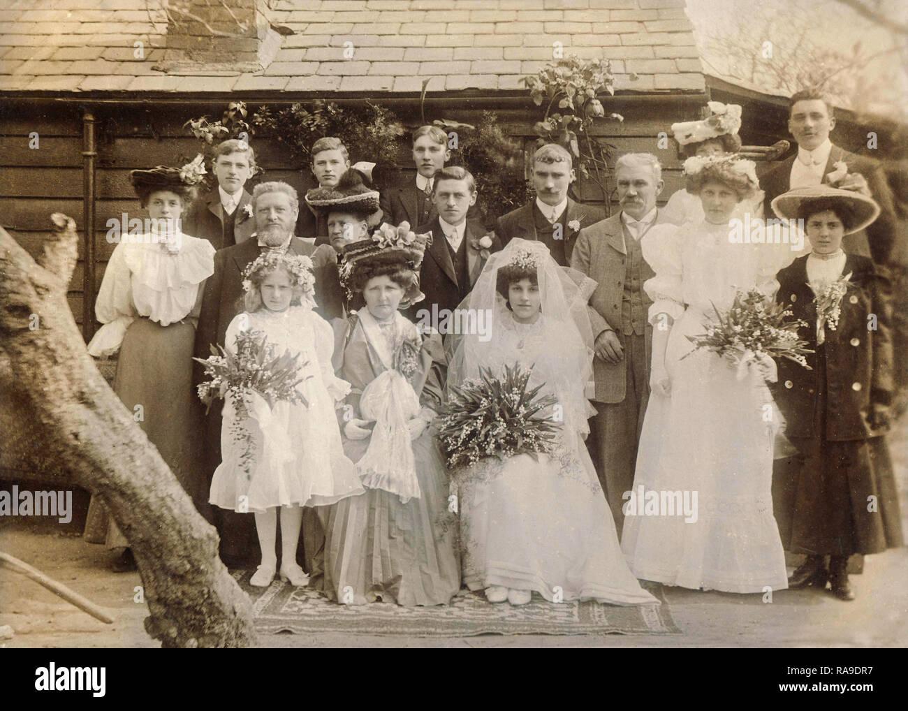 Archivio Storico di immagine del matrimonio, Kent, Inghilterra, c1910s Immagini Stock