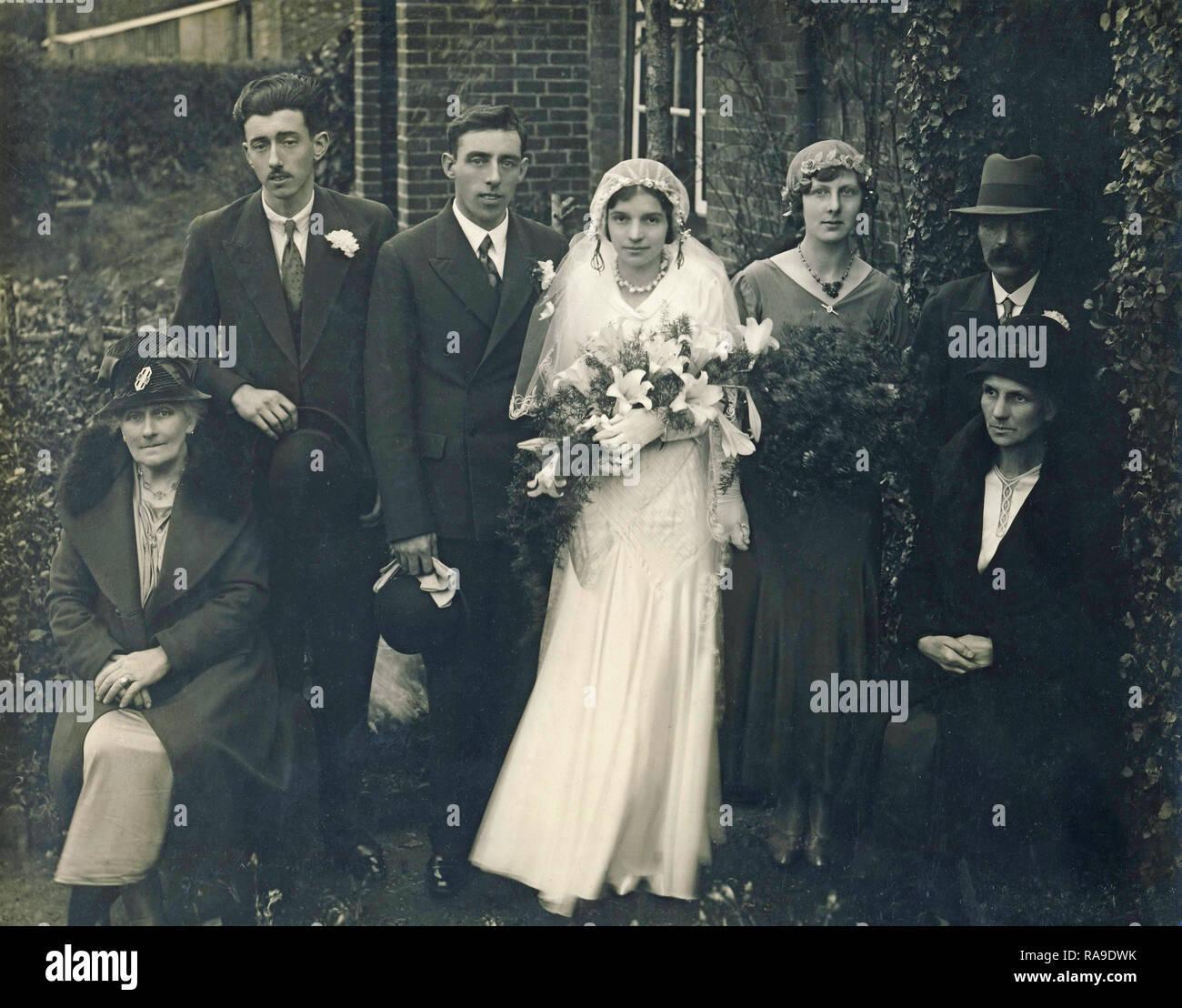 Archivio Storico di immagine del matrimonio, c1930s Immagini Stock