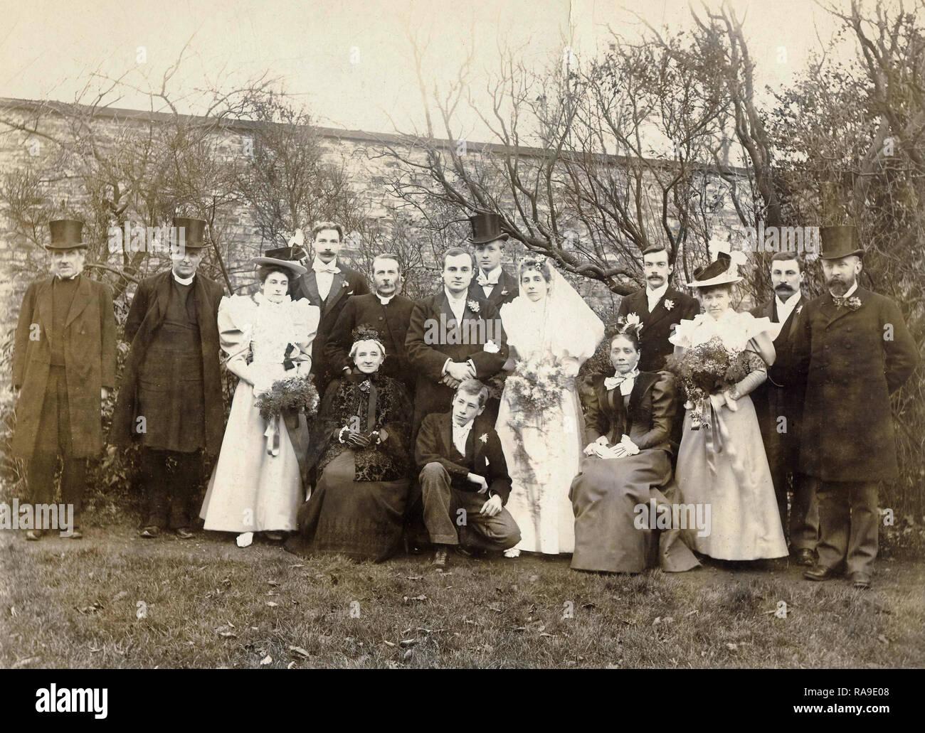 Archivio Storico di immagine del matrimonio, York, c1900s Immagini Stock