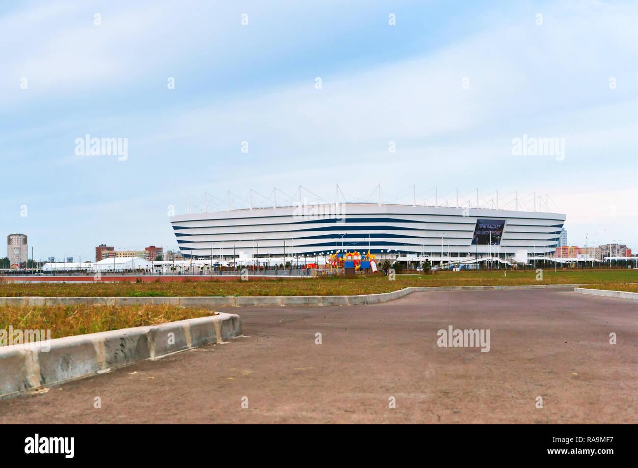 """Settembre 30, 2018, Kaliningrad, Russia, lo stadio di calcio """"Baltico arena', moderno impianto sportivo Immagini Stock"""