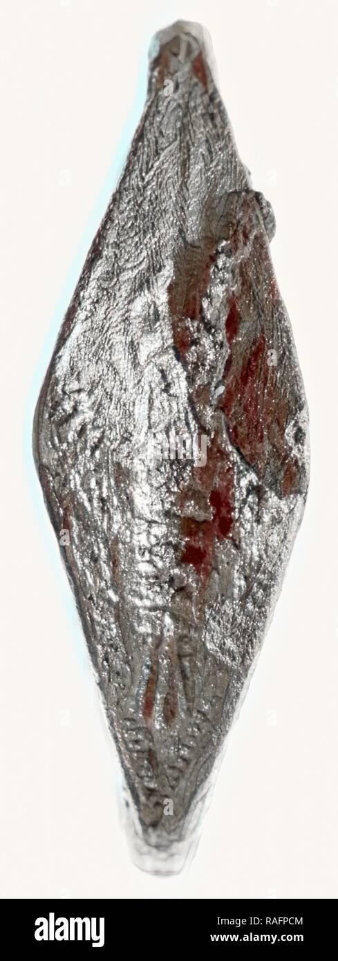Anello, seconda metà del VI secolo a.C, argento, 2,2 cm, 0,0028 kg (7,8 in., 0.0062 lb.). Reinventato da Gibon. Classic reinventato Immagini Stock