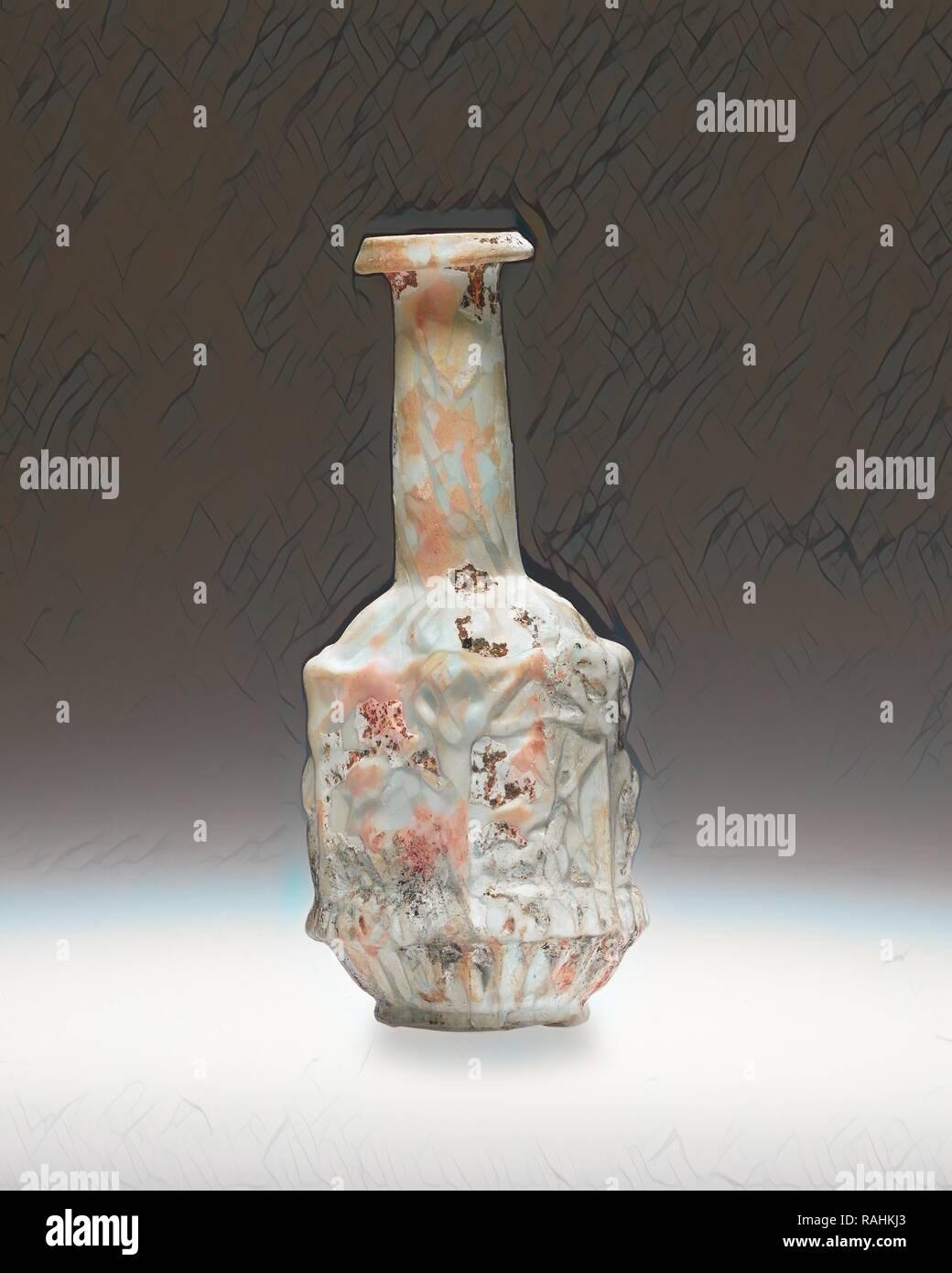 Pallone, Impero romano del I secolo, vetro, 9,2 cm (3 5,8 in.). Reinventato da Gibon. Arte Classica con un tocco di moderno reinventato Immagini Stock