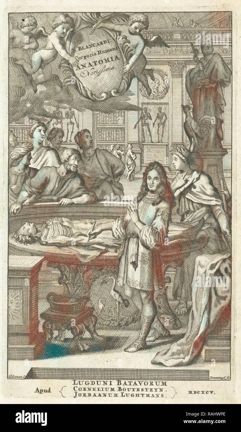 Corporis Humani Anatomia, Steph. Blancardi Anatomia reformata, sive, Concinna corporis humani dissectio, annuncio reinventato Immagini Stock