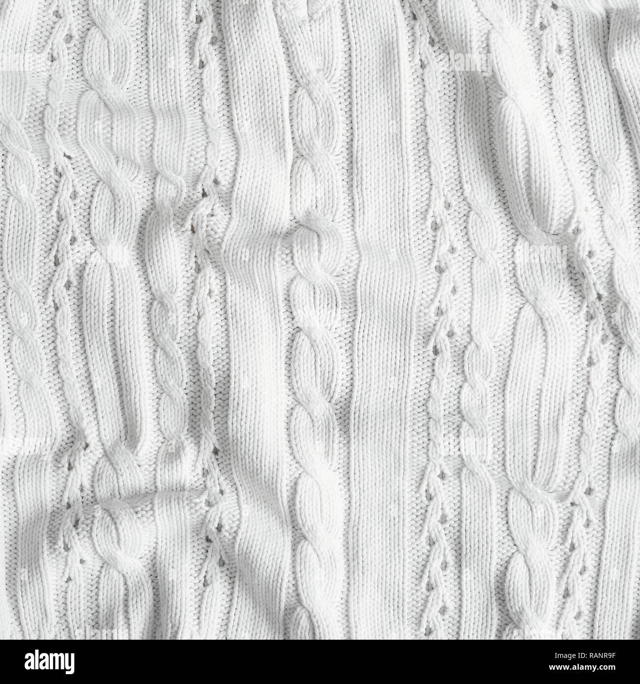 Bianco Avorio Tessuto A Maglia Texture Maglione Di Lana Fatti A