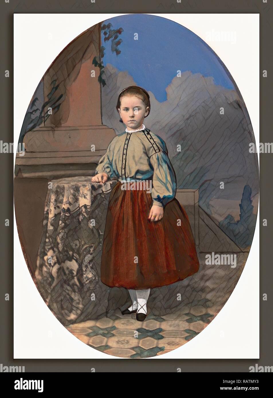American del XIX secolo, Untitled, 1800 - 1899, dipinte a mano e salata di stampa della carta. Reinventato da Gibon. Arte Classica con reinventato Immagini Stock