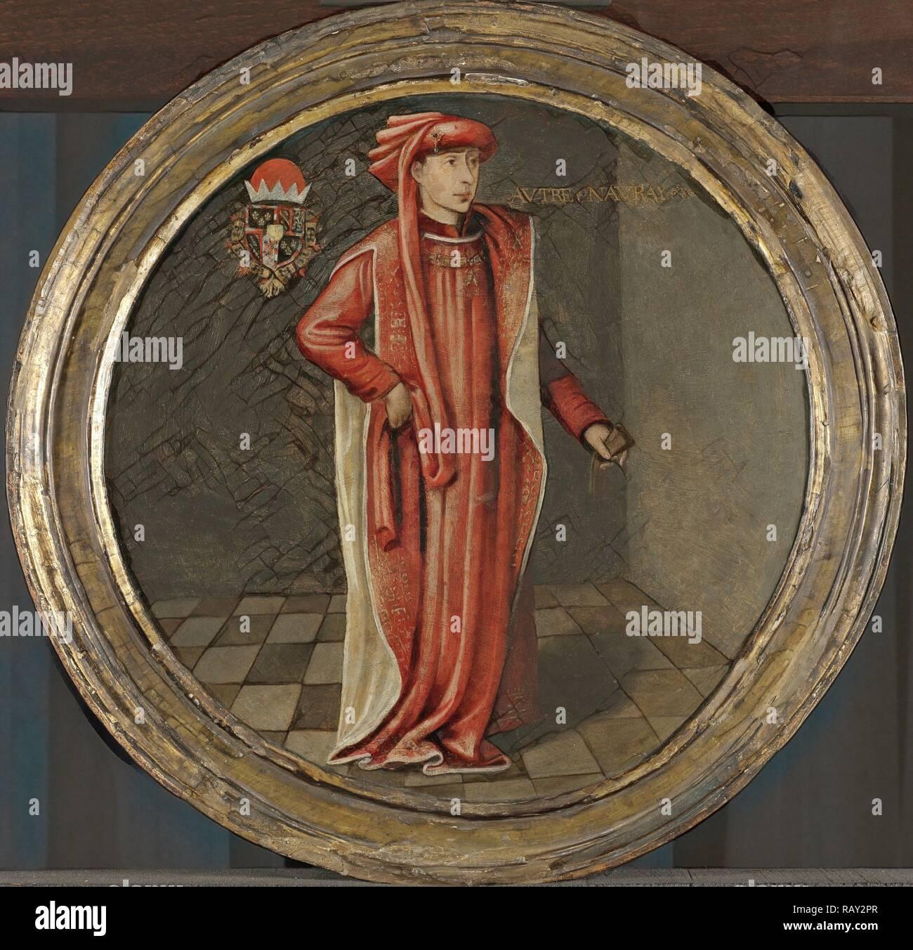 Ritratto di Filippo il Buono, duca di Borgogna, anonimo, c. 1460 - c. 1480. Reinventato da Gibon. Arte Classica con un reinventato Foto Stock