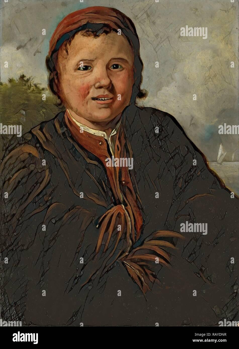 Fisher Boy, copia dopo Frans Hals, 1800 - 1899. Reinventato da Gibon. Arte Classica con un tocco di moderno reinventato Immagini Stock
