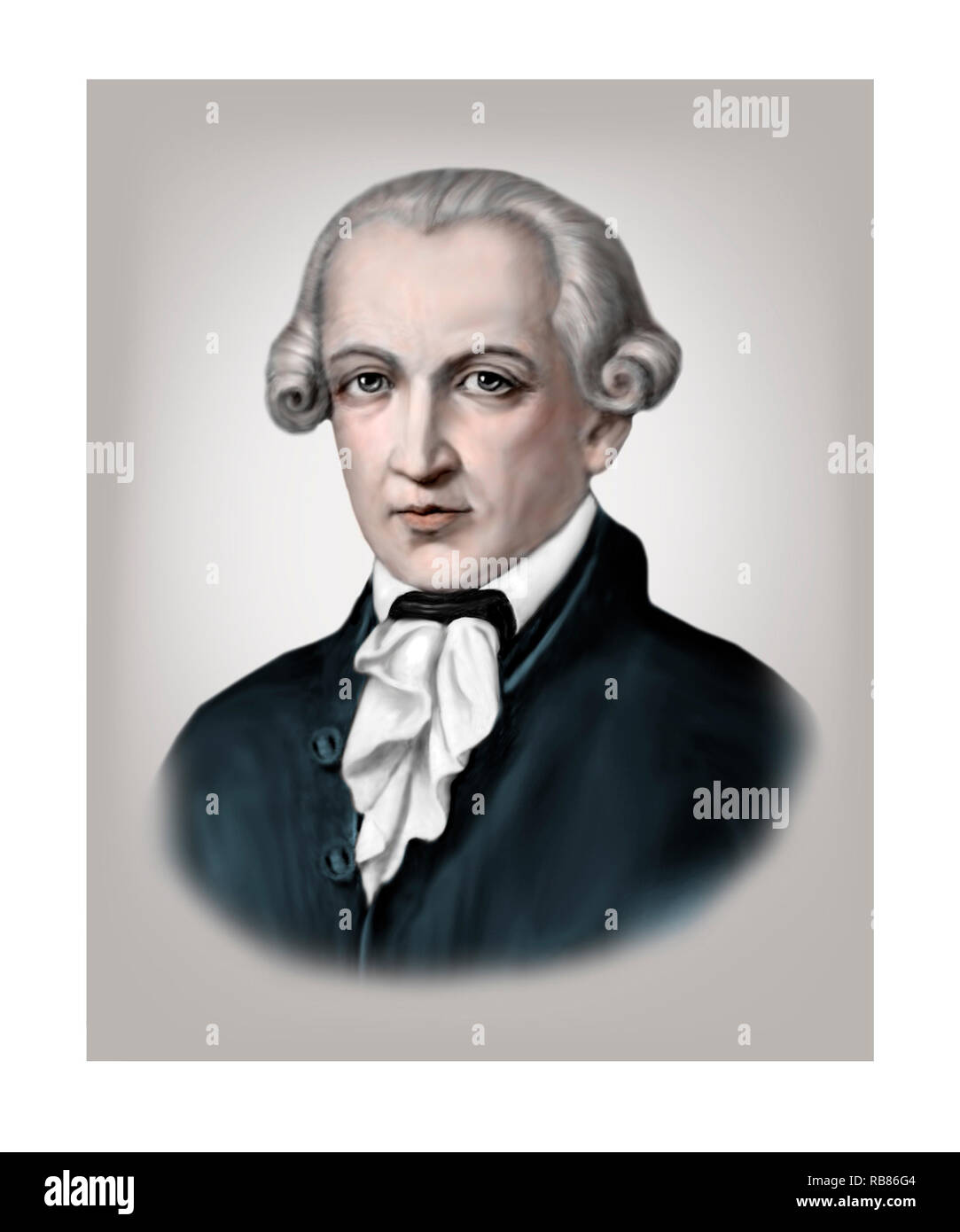 Immanuel Kant 1724-1804 filosofo tedesco Immagini Stock