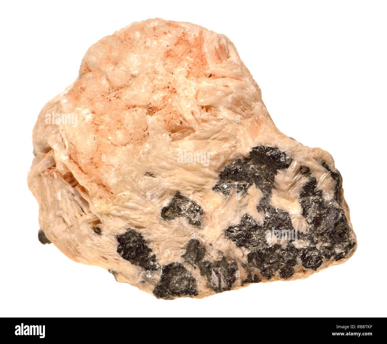 La Galena (solfuro di piombo) principali minerali di piombo Immagini Stock