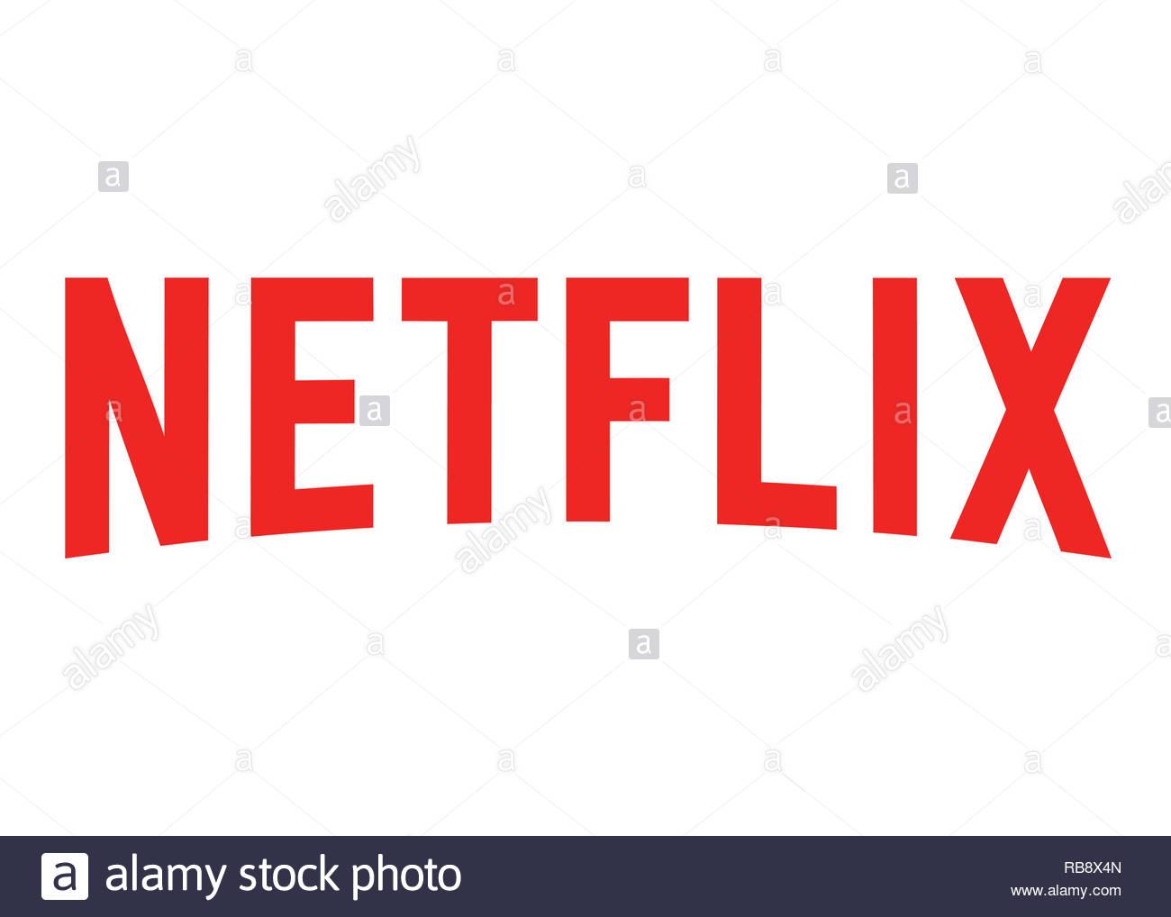 Il logo di Netflix Immagini Stock