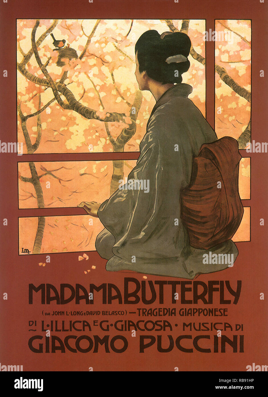 Madame Butterfly Poster Foto Stock