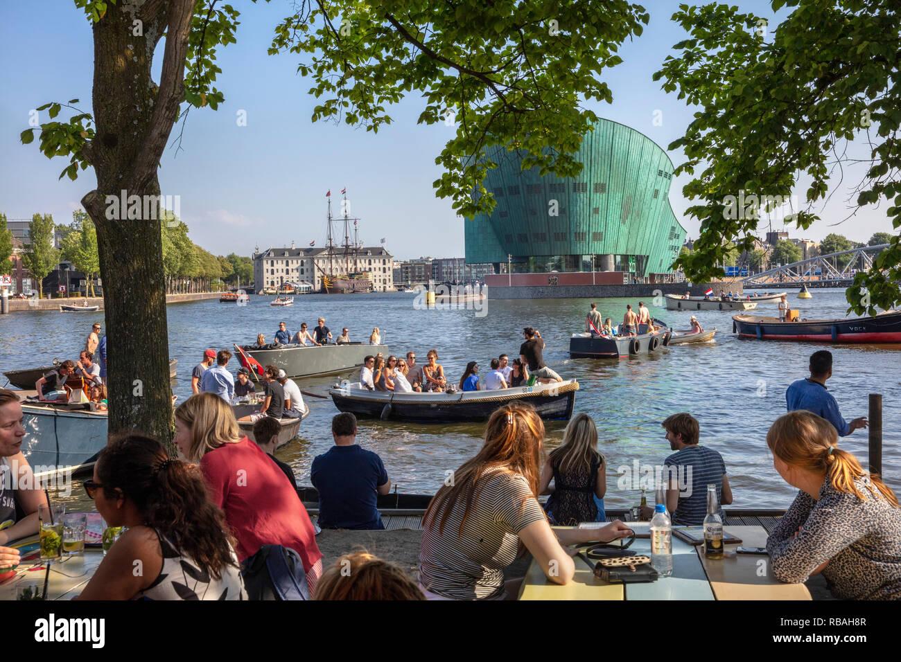 I Paesi Bassi Amsterdam La Terrazza Esterna Del Ristorante