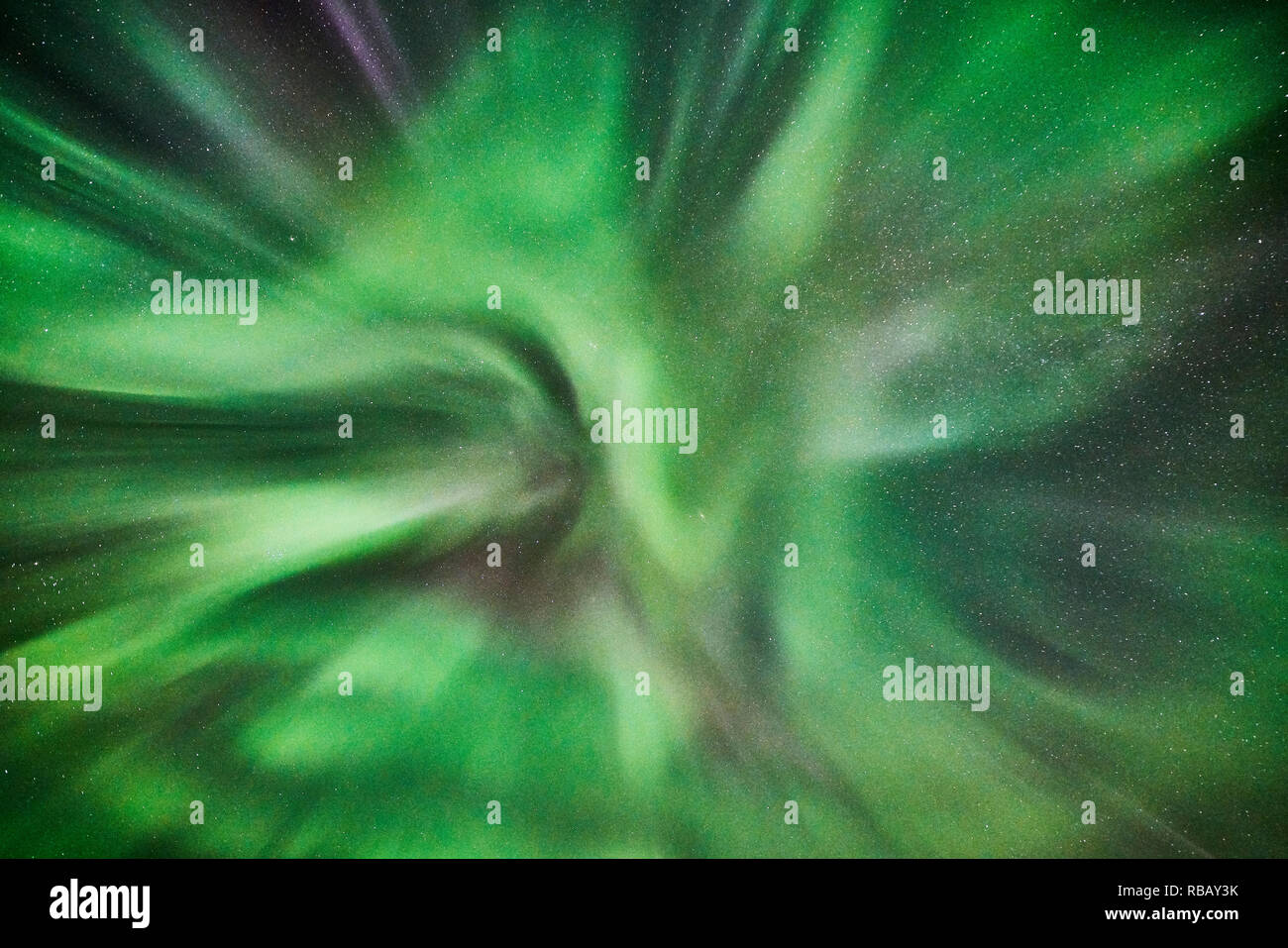 Aurora Boreale e Corona, Islanda Immagini Stock