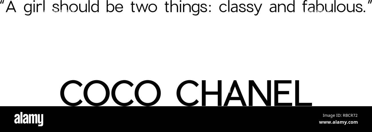 release date: 2ccae d417f Coco Chanel citazioni sulla moda e vita Illustrazione ...