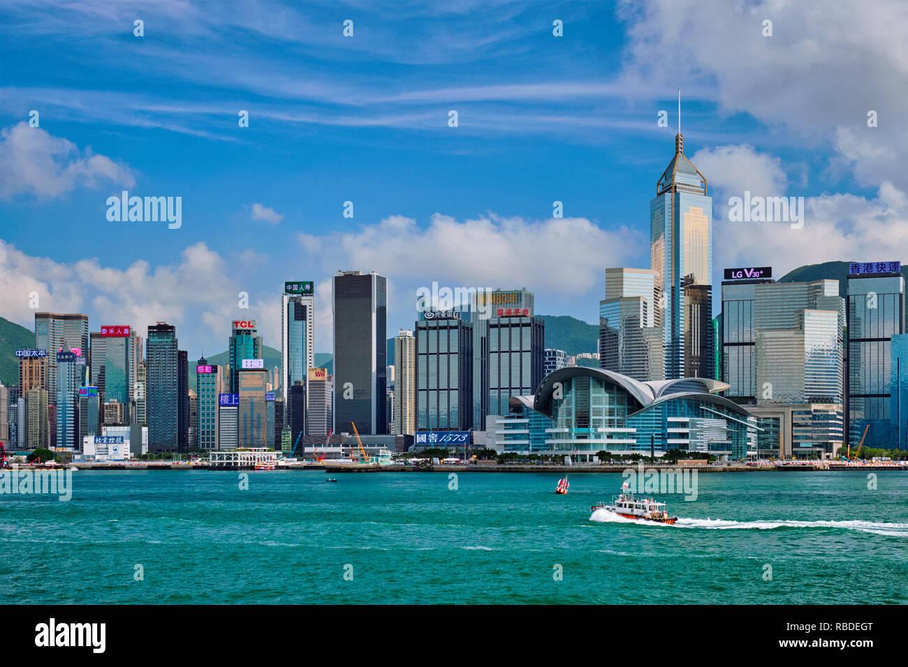 Skyline di Hong Kong. Hong Kong, Cina Immagini Stock