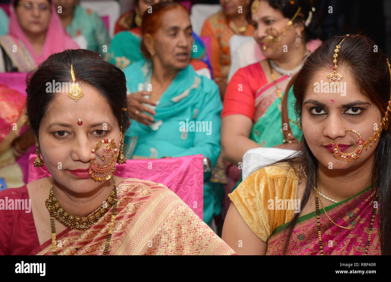 Bella tradizionali donna indiana Immagini Stock