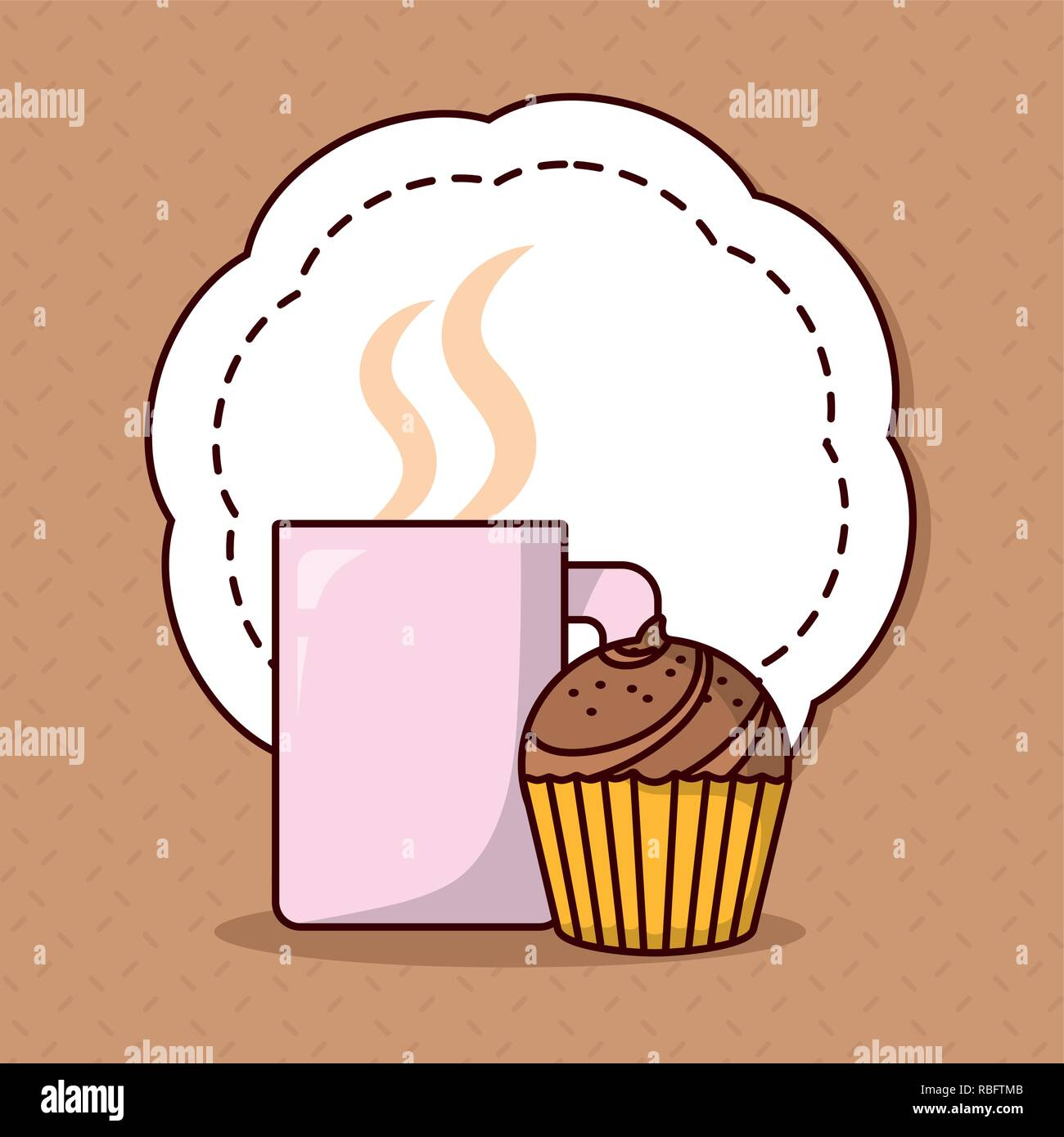 Cupcake Retro Vector Icon Immagini Cupcake Retro Vector