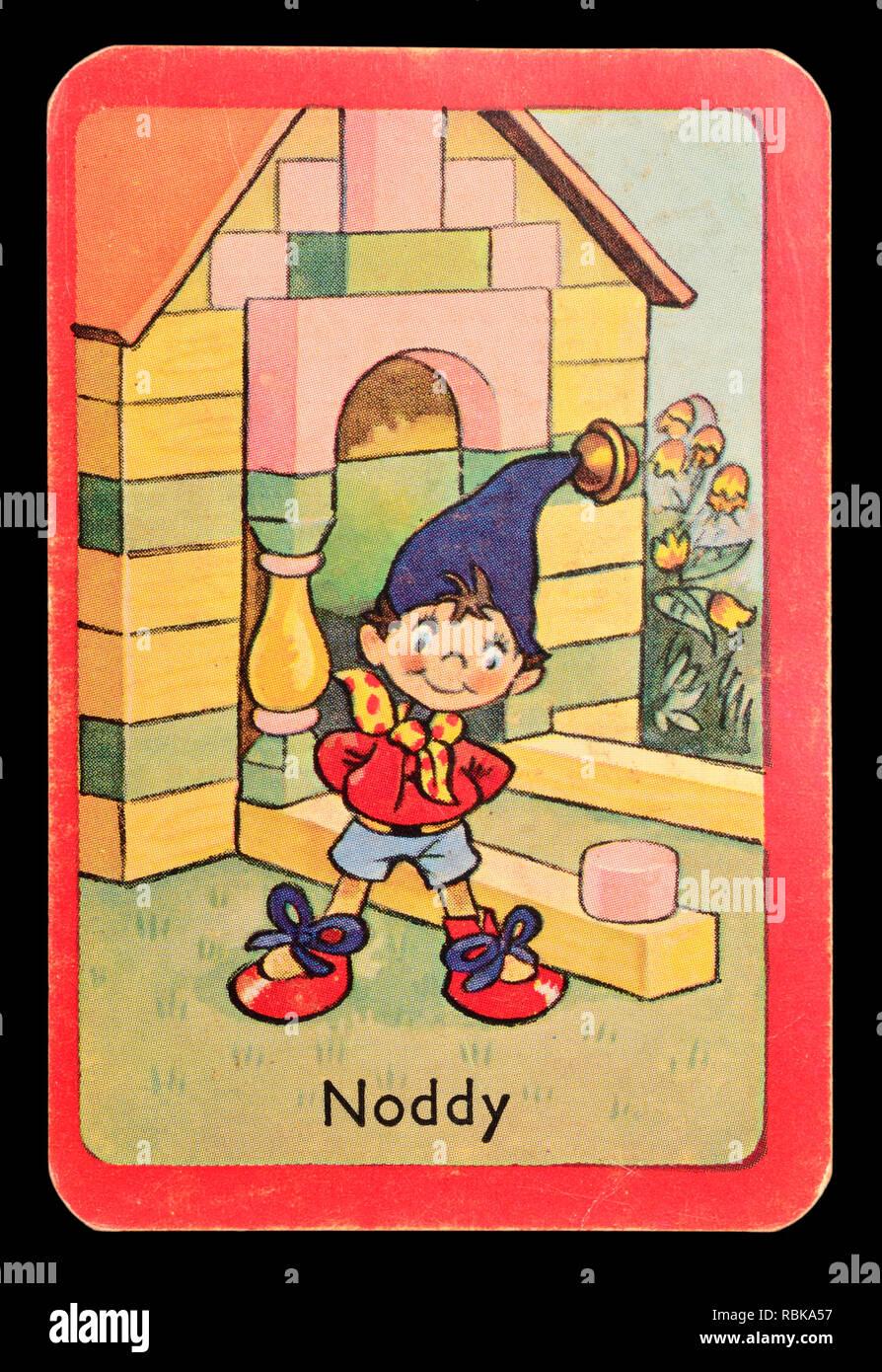Carta da un Noddy snap gioco di scheda (1955) - Noddy Immagini Stock