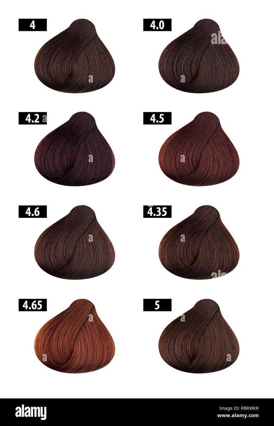 Haircolor E Tintura Per Capelli Cartella Colori Numeri Di