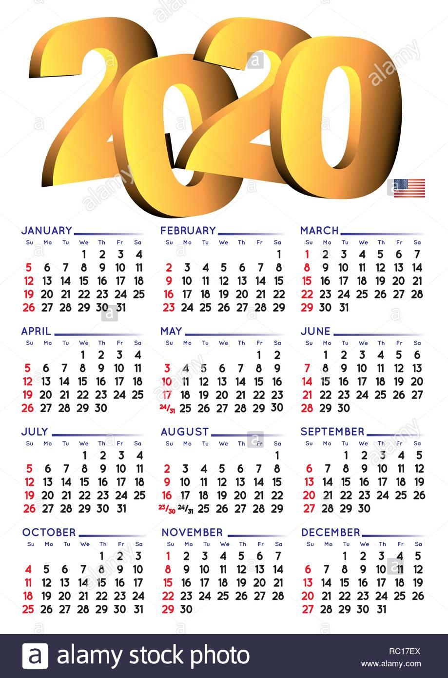 Calendario Settembre2020.Calendario 2020 In Inglese Anno 2018 Calendario Il