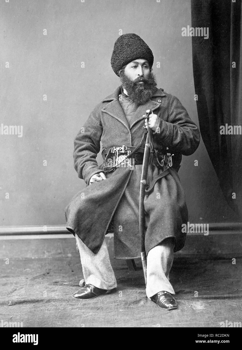Sher Ali Khan (1825 - 1879) Amir dell'Afghanistan dal 1863 al 1866 e dal 1868 fino alla sua morte nel 1879, il fondatore della dinastia Barakzai in Afghanistan. Immagini Stock