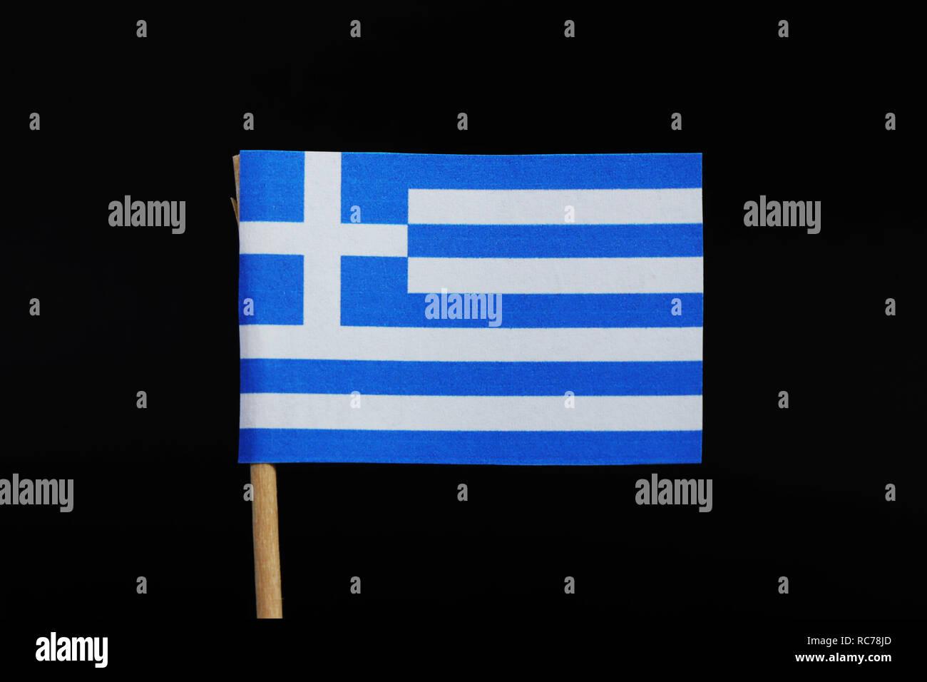 Un Ufficiale E Bandiera Nazionale Della Grecia Su Stuzzicadenti Su