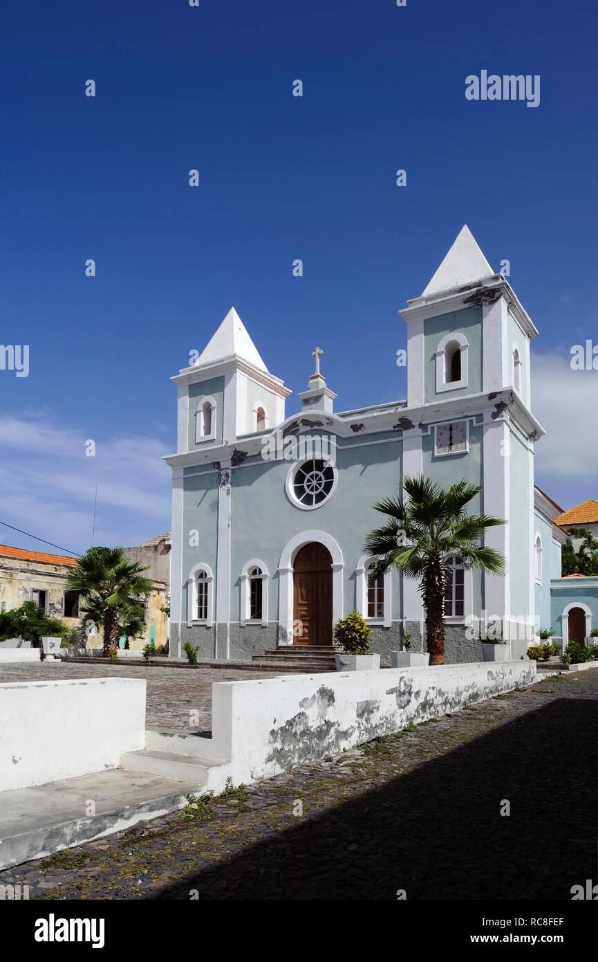 Igreja Nossa Senhora da Conceicao chiesa, Sao Filipe, Foto, Capo Verde, Africa Immagini Stock