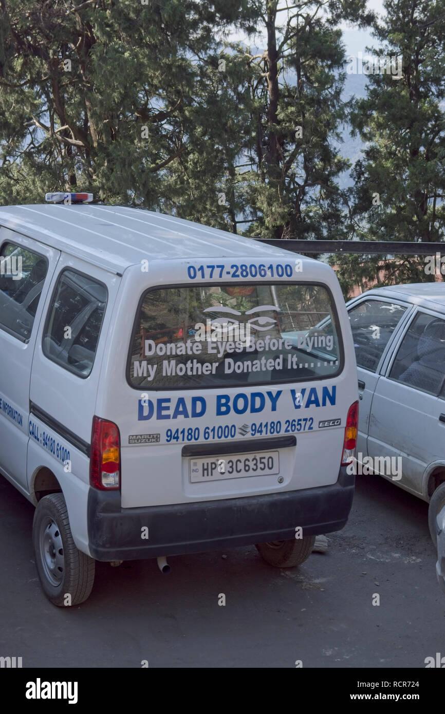 La raccolta del donatore van, India, Shimla Immagini Stock