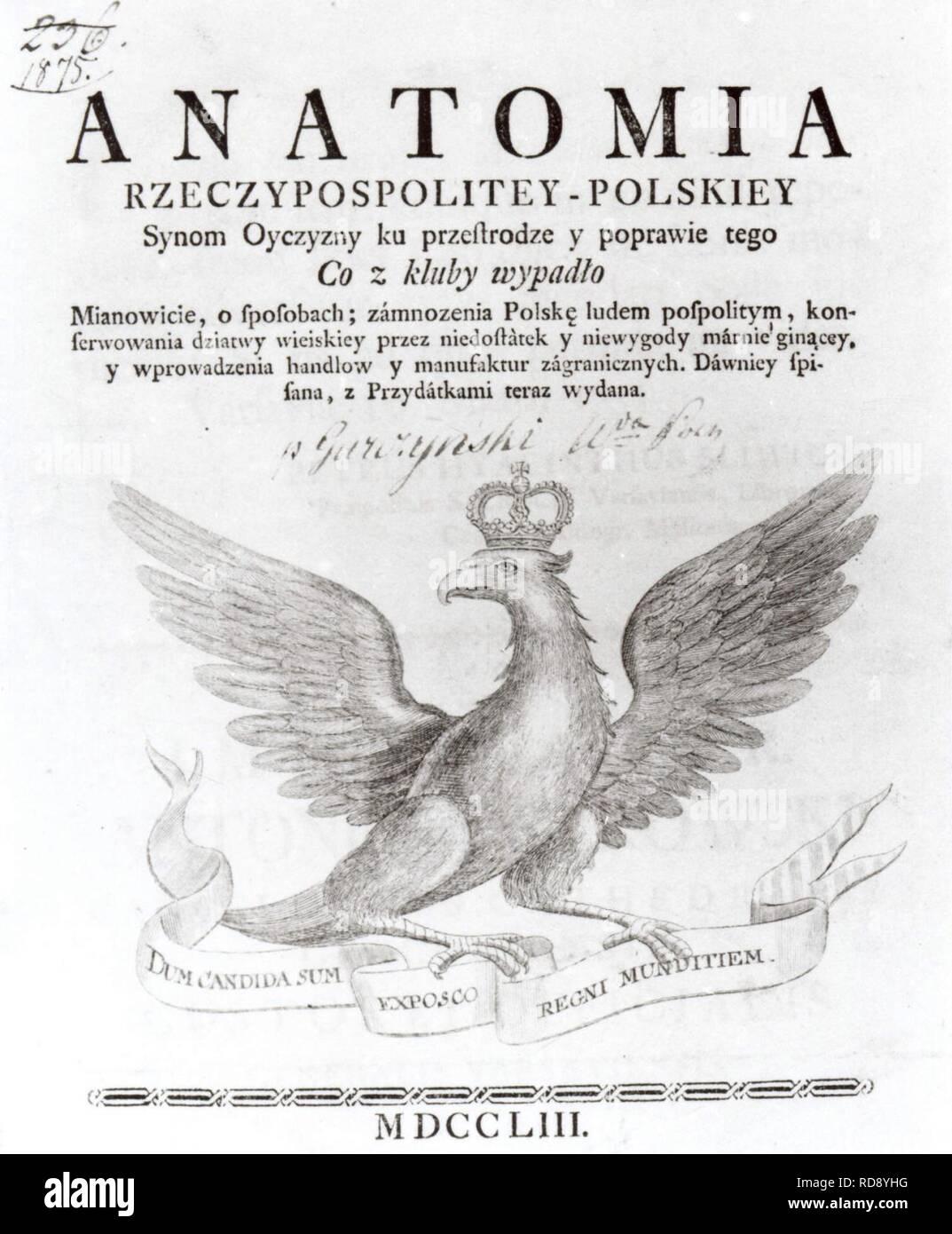 Anatomia Rzeczypospolitey Polskiej. Immagini Stock