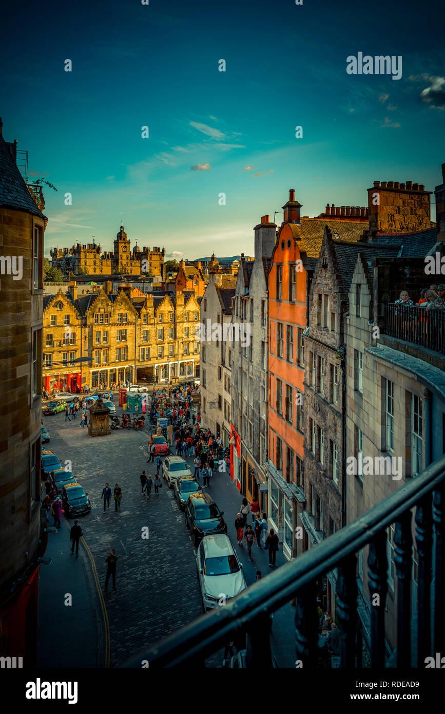Europa, Großbritannien, Schottland, Edimburgo, Victoria Street Immagini Stock