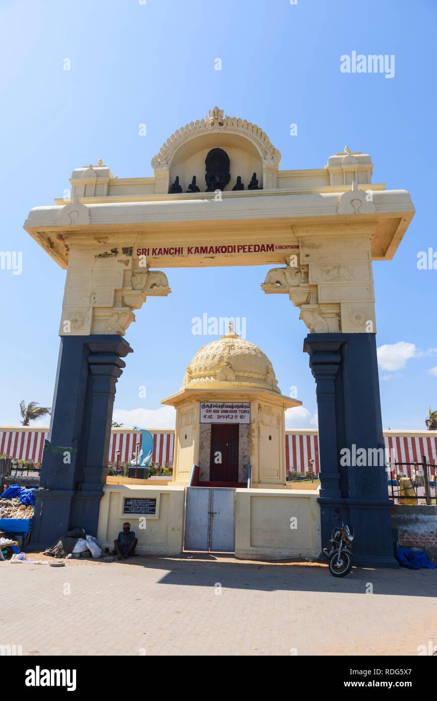 Kumari Amman Tempio, Kanyakumari (Capo Comorin), Tamil Nadu, India Immagini Stock