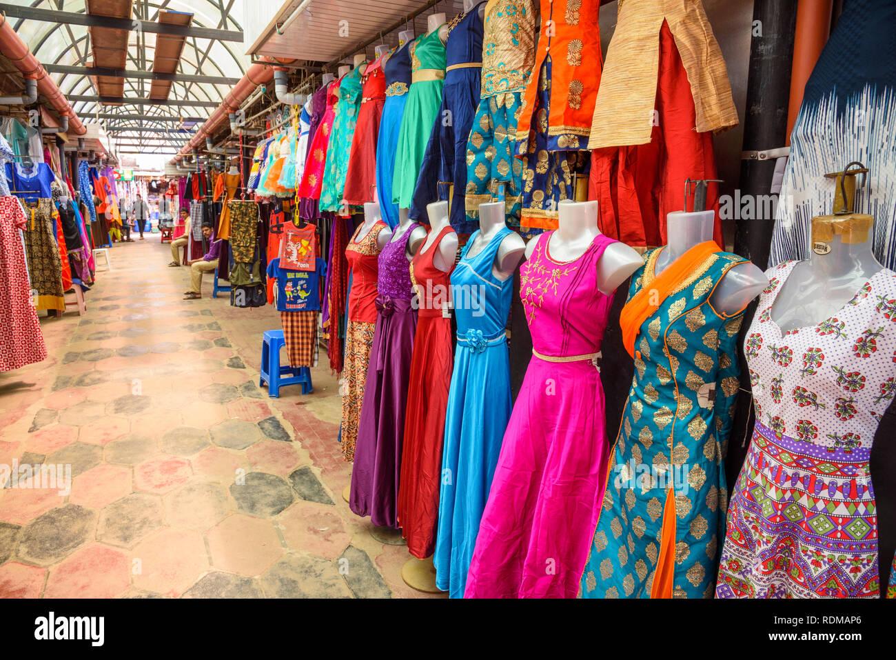 Mercato Conemara, Trivandrum, Kerala, India Immagini Stock