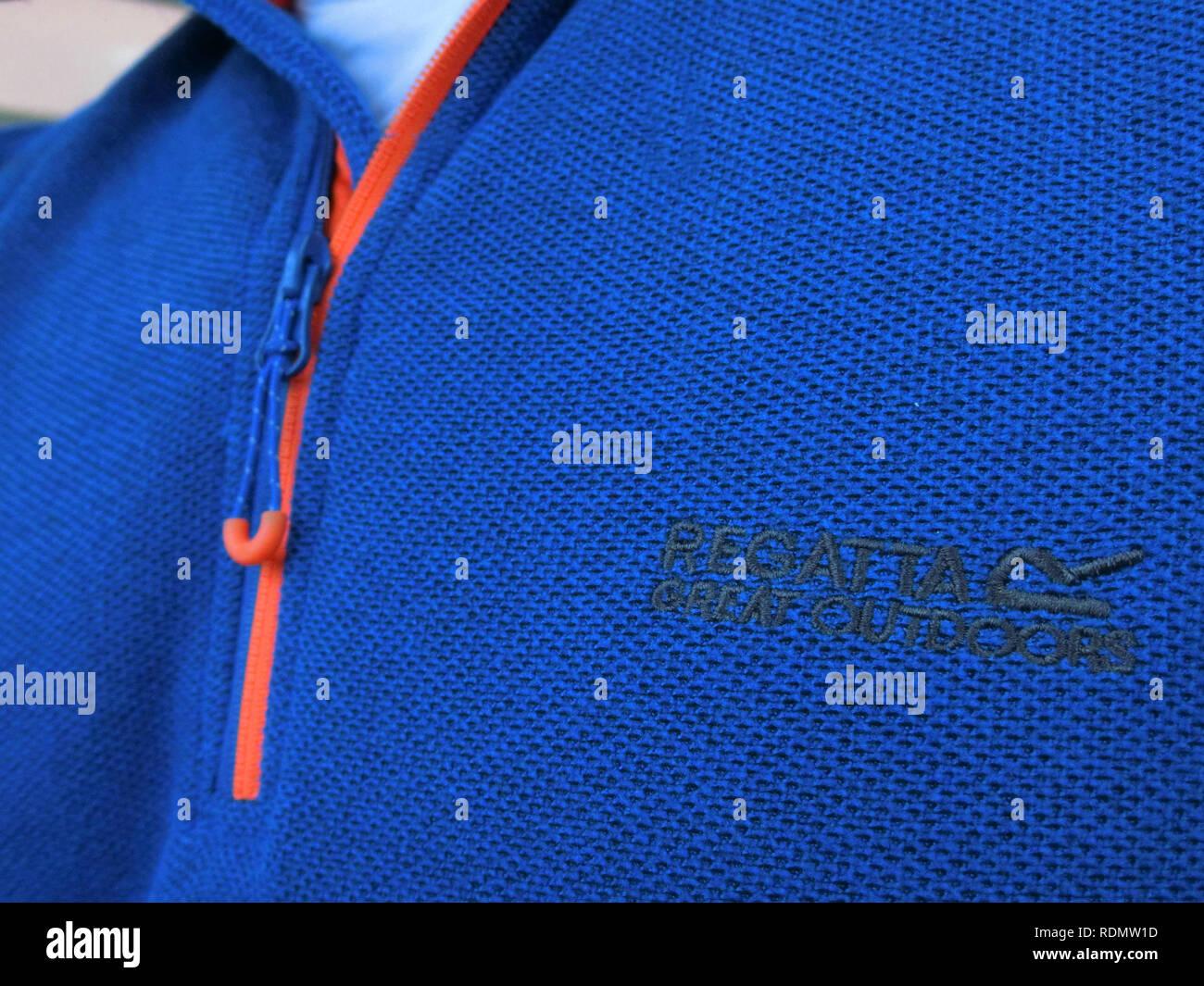 Regata di grande aria di uomini felpa blu abbigliamento, REGNO UNITO Immagini Stock