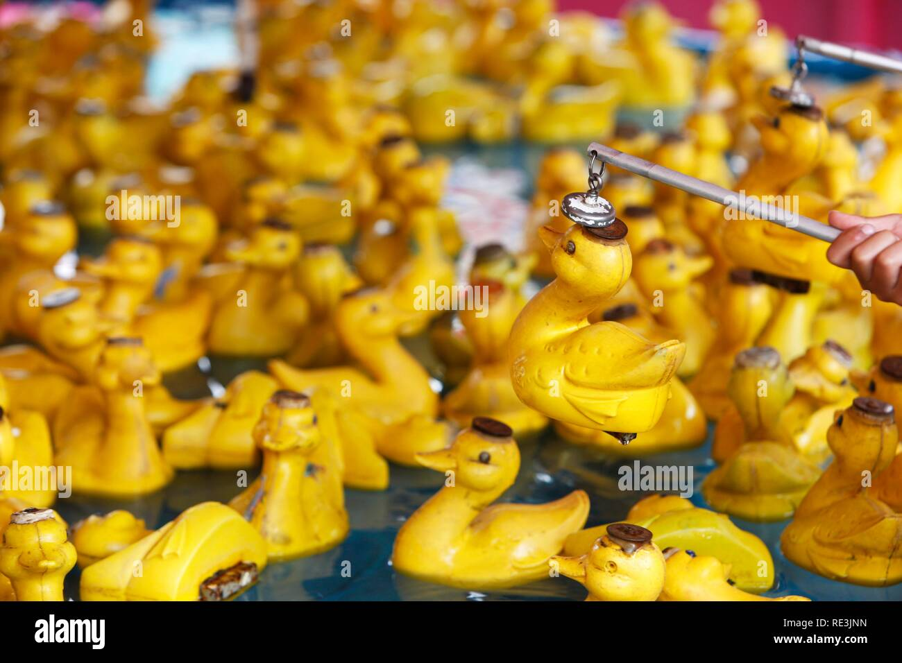Tenta la fortuna di catturare Anatra grande festa giocattolo per bambini Hook-A-GIOCO DI ANATRA