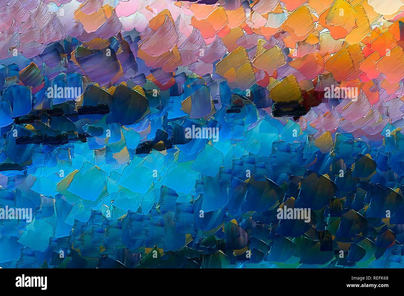 Olio astratto e stile acquerello tecnica mista dello sfondo. Pittura in tecnica  impressionista astrazione. Wall Stampa decor. Disegnato a mano brushstr  caotico Foto stock - Alamy