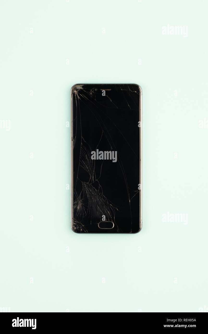 Broken Phone Display Immagini Broken Phone Display Fotos Stock Alamy