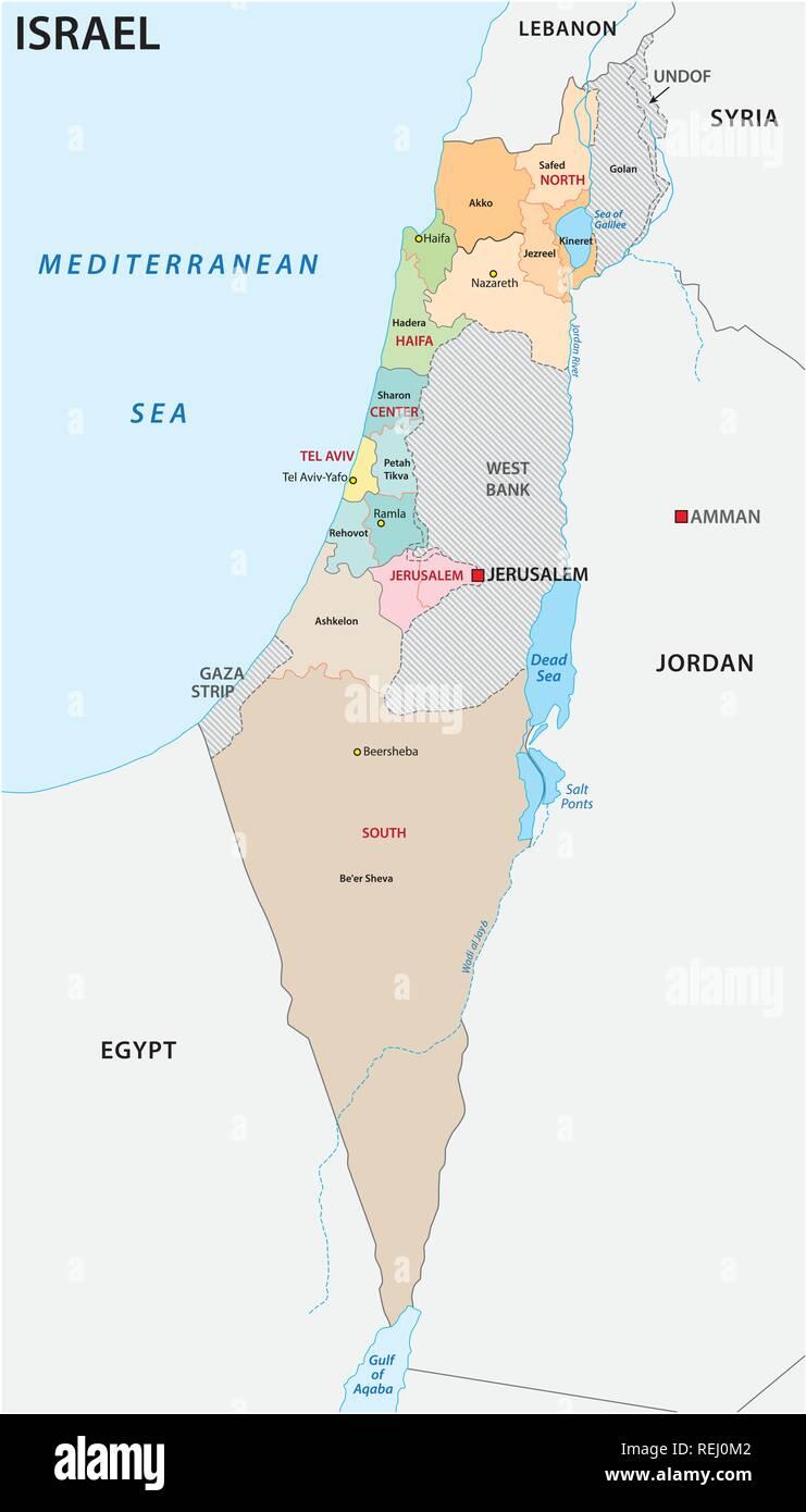 Cartina Politica Israele.Israele Politica E Amministrativa Di Mappa Vettoriale Immagine E Vettoriale Alamy