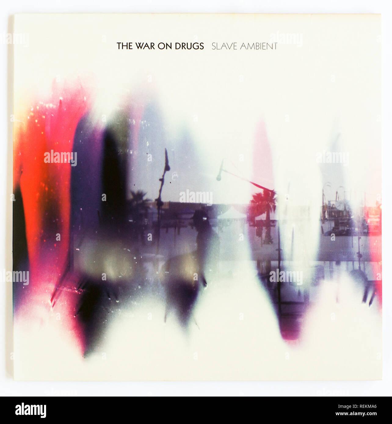 Il coperchio di ambiente Slave dalla guerra alle droghe. 2011 album su segretamente record canadese Immagini Stock