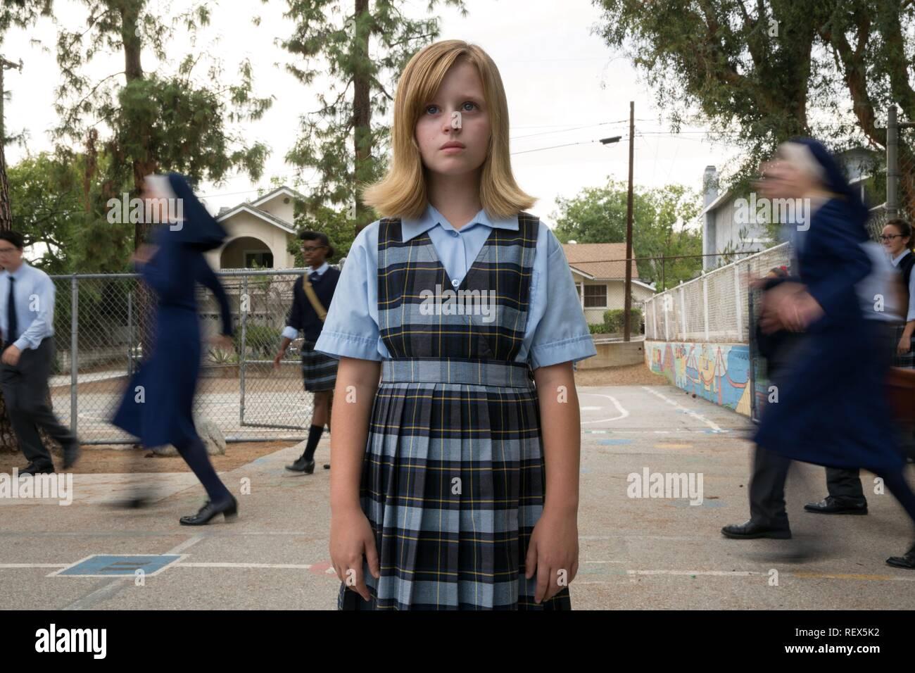 LULU WILSON OUIJA: origine del male (2016) Immagini Stock